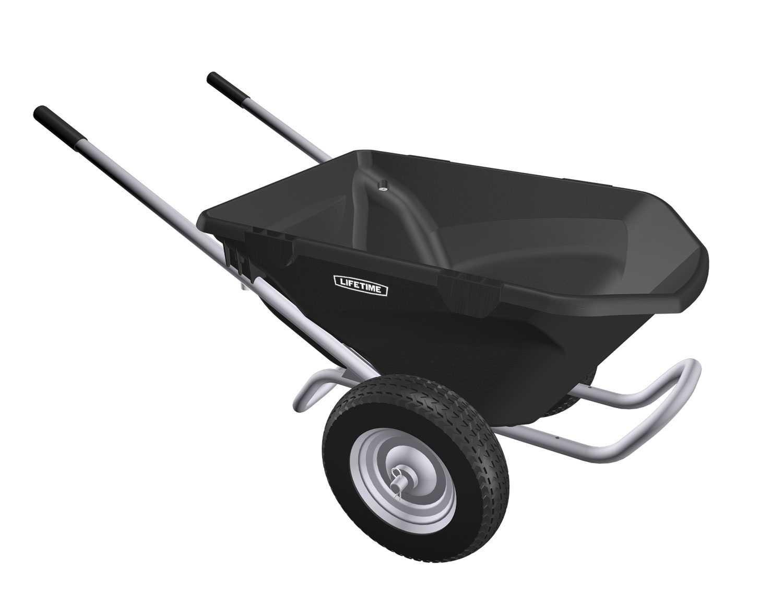 Lifetime 65034 Two Wheel Wheelbarrow, 6.5 Cubic Feet Capacity by Lifetime