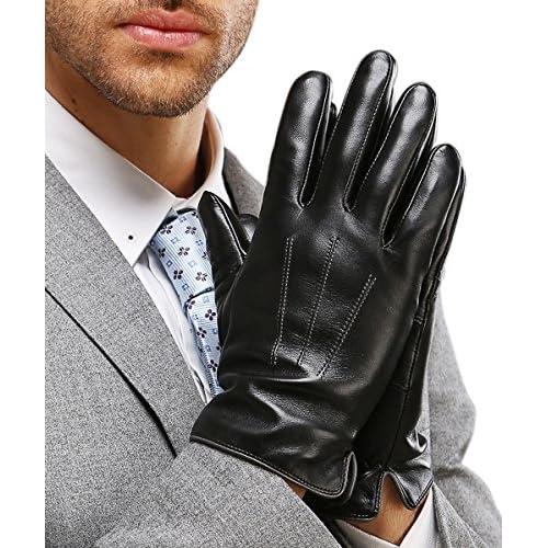 80%OFF Harrms guantes de hombre para invierno de mejor genuino Nappa mejor  cuero forro db0ffd1767a7