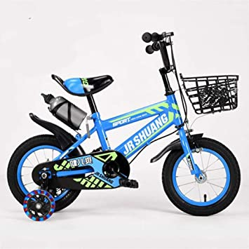 """KY Bicicleta niños Balance Bike Formación niños Bicicleta antioxidante de Acero de la Bici del niño con el Flash de la Rueda Auxiliar, de 2-11 años en Talla 12"""" 14"""" 16"""" 18"""":"""