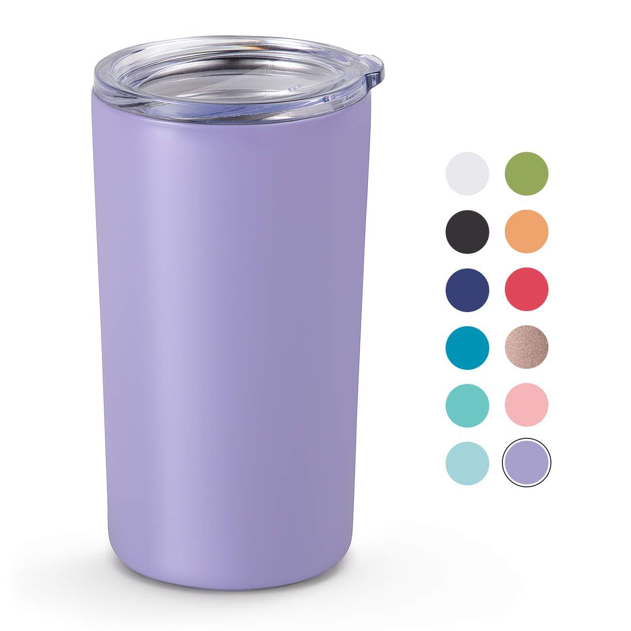 Maars Drinkware Skinny Mini Insulated Tumbler for Coffee and Tea, 1 Pack, Lavender