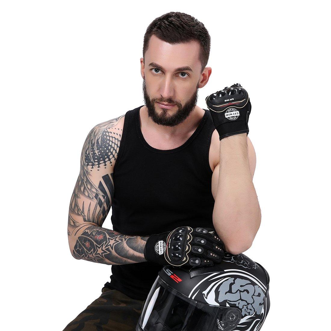 Guanti Moto Off Road professionali che corrono i guanti da moto guanti goccia resistenza touch screen Guanti guantes luvas XL, black