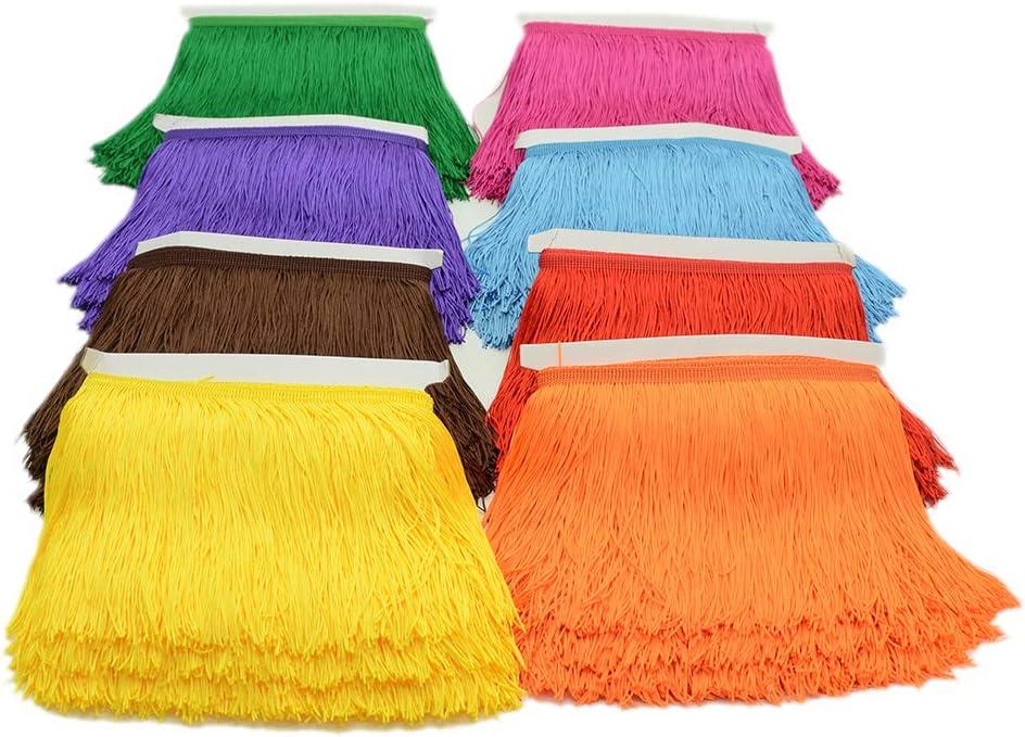 15 cm lange Spitzenbord/üre 25 Farben Polyester Quaste Fransen Trimmen f/ür DIY Lateinkleid B/ühne Kleidung Zubeh/ör Orange