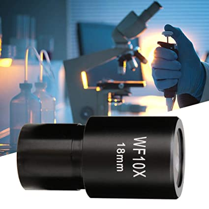 WF10X//18mm Wide-Angle Eyepiece Optical Lenses Standard Biological Microscope Eyepiece With Scale