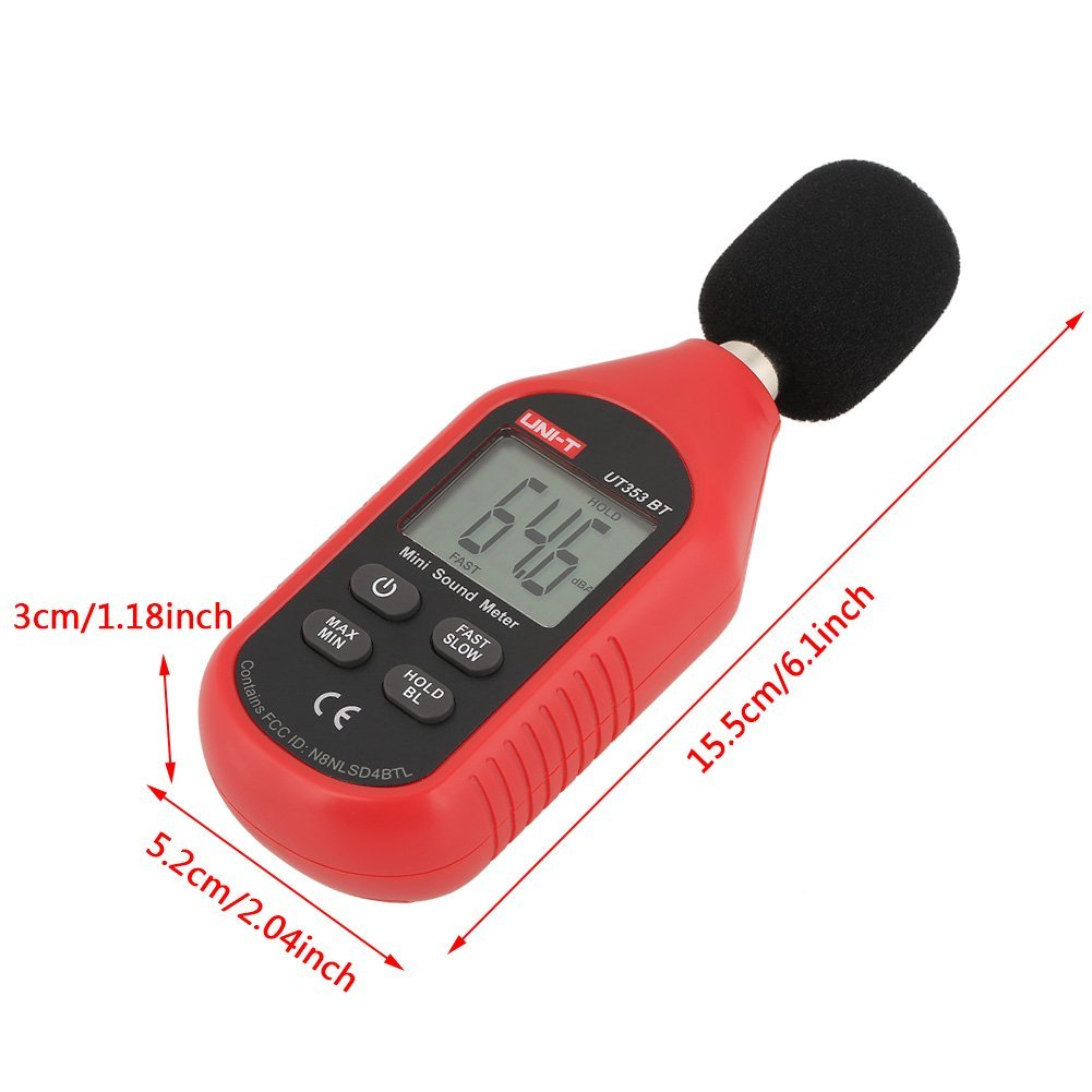 UNI-T UT353BT Sound Level Meter Digital Bluetooth Noise Meter Tester 30-130dB Monitoring Sound,with Bluetooth Function. by Hilitand (Image #2)