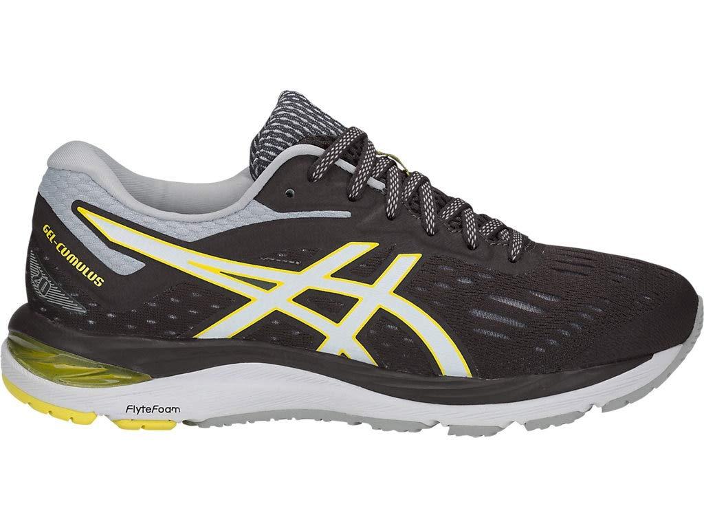 ASICS Women's Gel-Cumulus 20 Running Shoes, 5M, Dark Grey/White