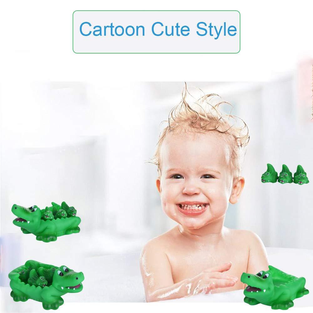 Amazon.com: LtrottedJ Alligator Family Bath Toy - Floating Fun!: Toys & Games