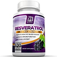 BRI Resveratrol - 1200mg Potent Trans-Resveratrol Natural Antioxidant Supplement...