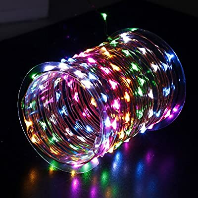 Innotree USB LED Fairy Starry String Lights Colorful, Waterproof Decorative Rope Lights for Indoor Bedroom Party Wedding Commercial Lighting [33Ft Copper Wire, 100 LED Bulbs]