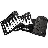 Jimdary Piano Enrollable Piano Plegable Teclado de Piano Enrollable de Mano electrónico Flexible Piano de Silicona Suave…