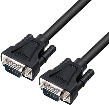Long 15ft DB-9F to DB-9M Computer Serial Cable