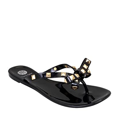 Halsey Studded Flip Flops Jelly Flip Flops Available In Black Uk  Holiday Beach Sandals Amazon Co Uk Shoes Bags