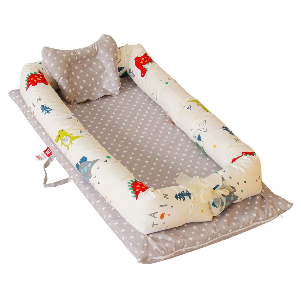 Umiwe Baby Nest Pod 100/% Organic Cotton Baby Bassinet Portable Travel Crib Bedding Breathable and Hypoallergenic Toddler Newborn Co-sleeping Lounger Bed for 0-24 Months