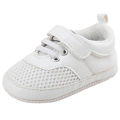 BZLine® Soft Mesh Chaussures au lacet, Chaussures de Premier pas pour Bébés Garçons 0-18Mois
