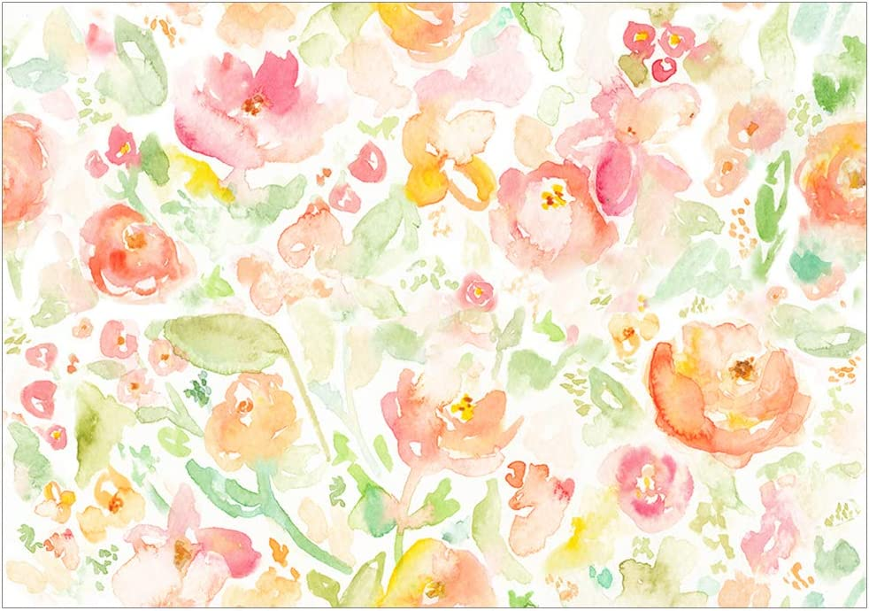 Amazon Com Allenjoy 7x5ft Watercolor Floral Backdrop For Newborn Baby Photography Yellow Flowers Monther S Day Photo Background Portrait Photoshoot Props Camera Photo