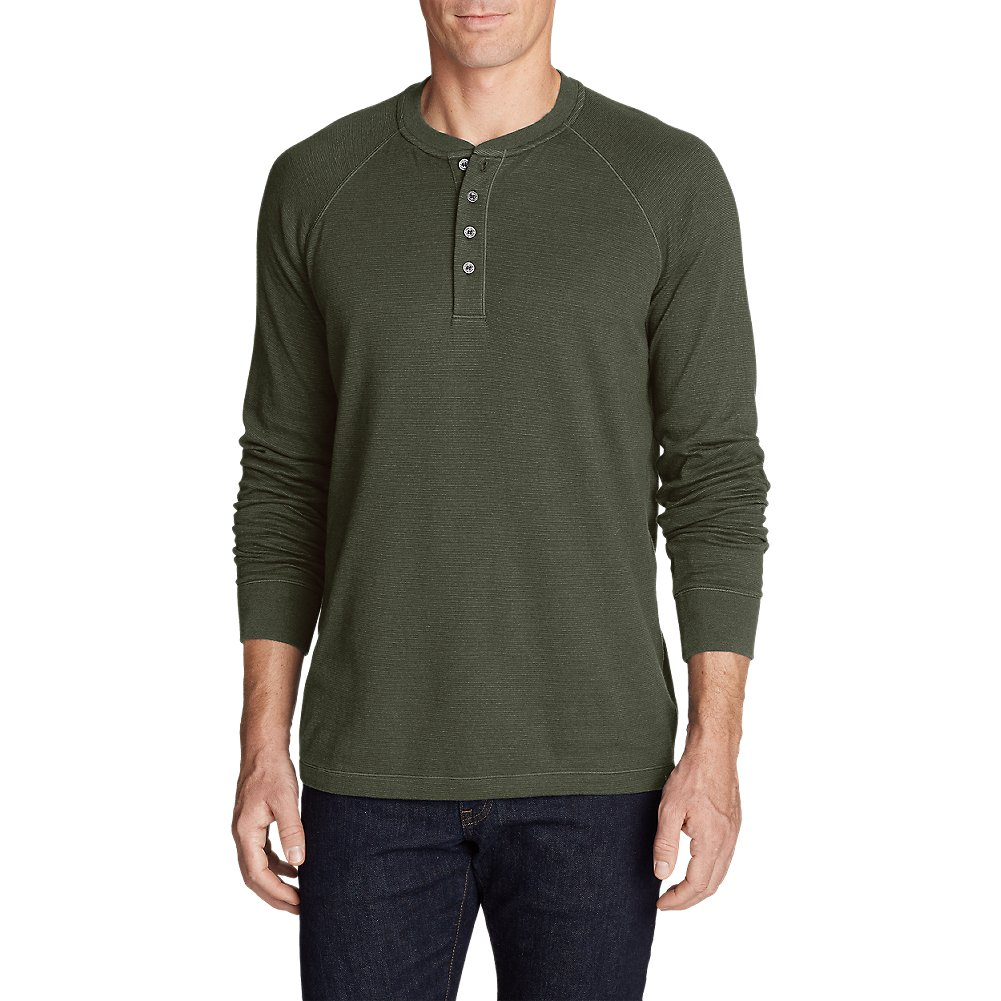 Eddie Bauer Men's Basin Long-Sleeve Henley Shirt 13302995