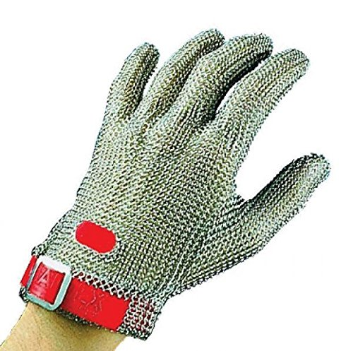 Chainex CHAINEXTRA Protective glove short S with white belt