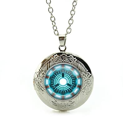 Amazon pendant necklace retro vintage style arc reactor pendant necklace retro vintage style arc reactor cufflinks vintage statement arc reactor cufflinks jewelry best friendlover aloadofball Image collections