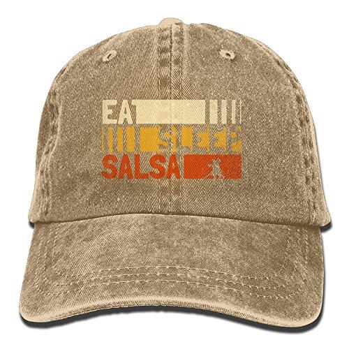 Buyiyang-01 Men's Or Women's Eat Sleep Salsa Repeat Cotton Denim Baseball Hat Adjustable Trucker Cap