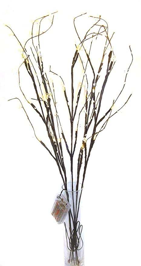 Link Products Twig Lights 5 Branches 30 Lights For Display White