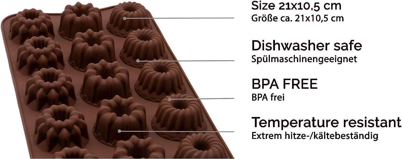 BPA Frei verschiedene Formen Zollner24 6-tlg Pralinenform aus Silikon