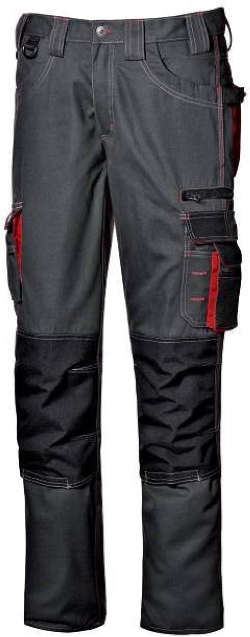 48, Antracite Pantalone da lavoro pantalone multitasche lavoro uomo lunghi Harrison colore antracite taglia 48-56 realizzato in poliestere e cotone Broken Twill marca Sir safety sistem