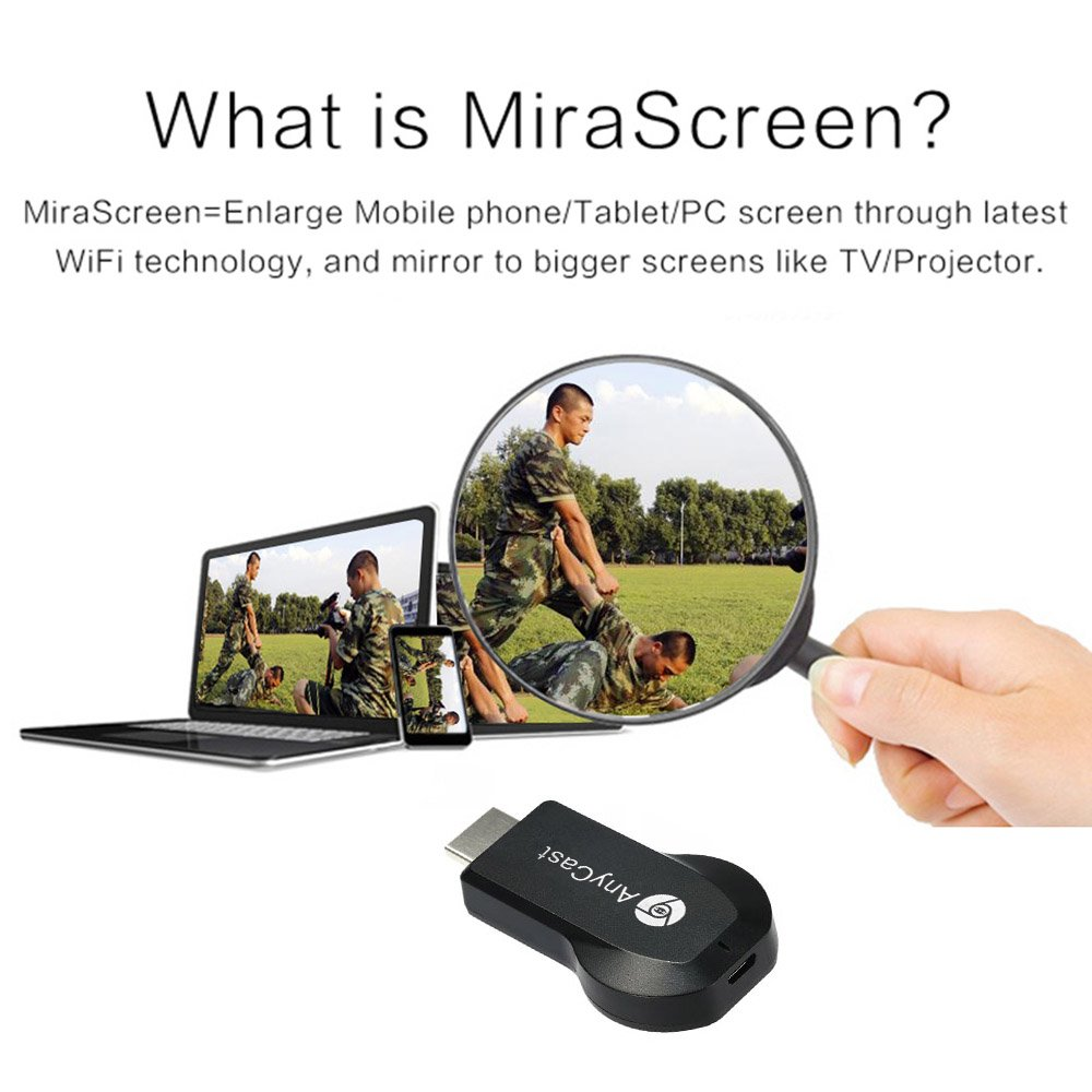 Anycast M2 Plus Airplay 1080p Wireless Wifi Display Tv Dongle Rechiver Receiver Hdmi Stick Android Miracast For Phone Pc Pk Chromecast Electronics