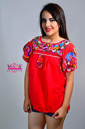 6cca4a56e Amazon.com  MAYA ROPA ARTESANAL-BLUSA MARIPOSA  Handmade