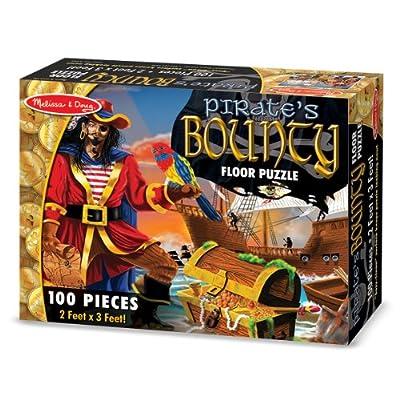 Melissa & Doug Pirate's Bounty Jumbo Jigsaw Floor Puzzle (100 pcs, 2 x 3 feet): Melissa & Doug: Toys & Games