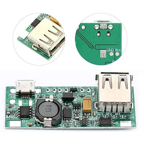 Boost Converter, DC-DC Boost Module 3.7V a 5V 1A Convertidor ...