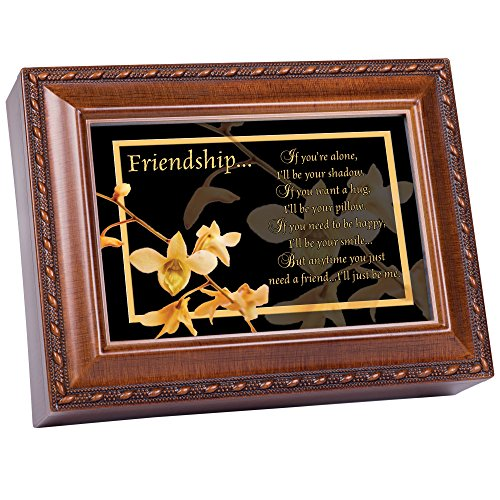 Cottage Garden Friendship Woodgrain Music Box Plays Friends are for