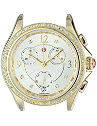 MICHELE Women's 'Belmore' Swiss Quartz Stainless Steel Casual Watch, Color:Gold-Toned (Model: MW29B01B0018)