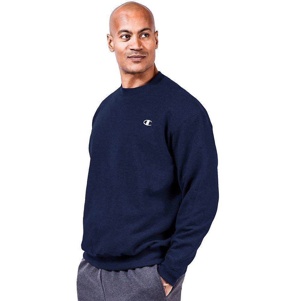 Champion Big & Tall Men's Fleece Sweatshirt,2X Tall,Navy by Champion
