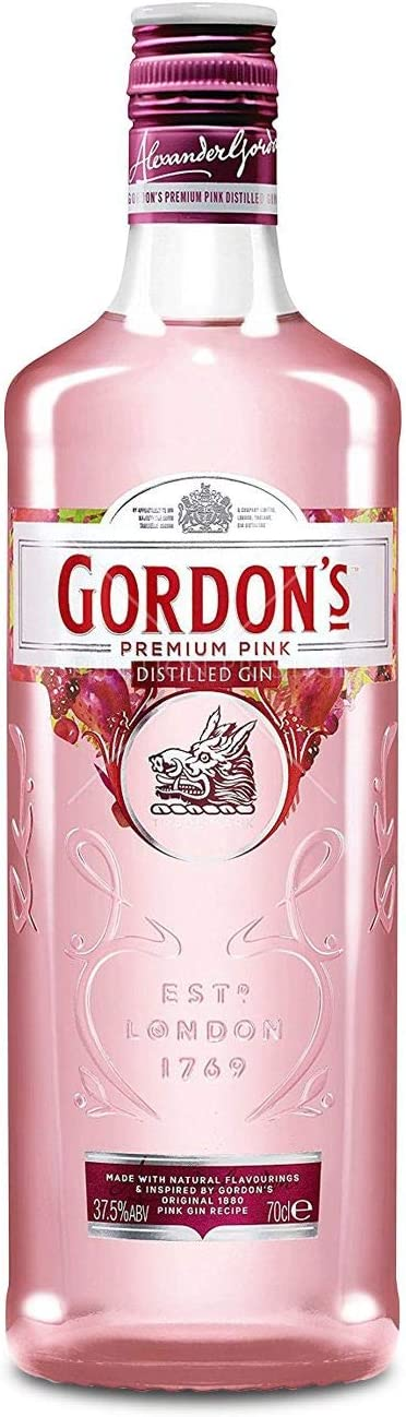 Oferta amazon: Gordon's Distilled Gin Premium Pink - 700 ml