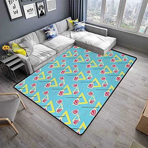 Abstract,Designed Kitchen Bathroom Floor Mat 36