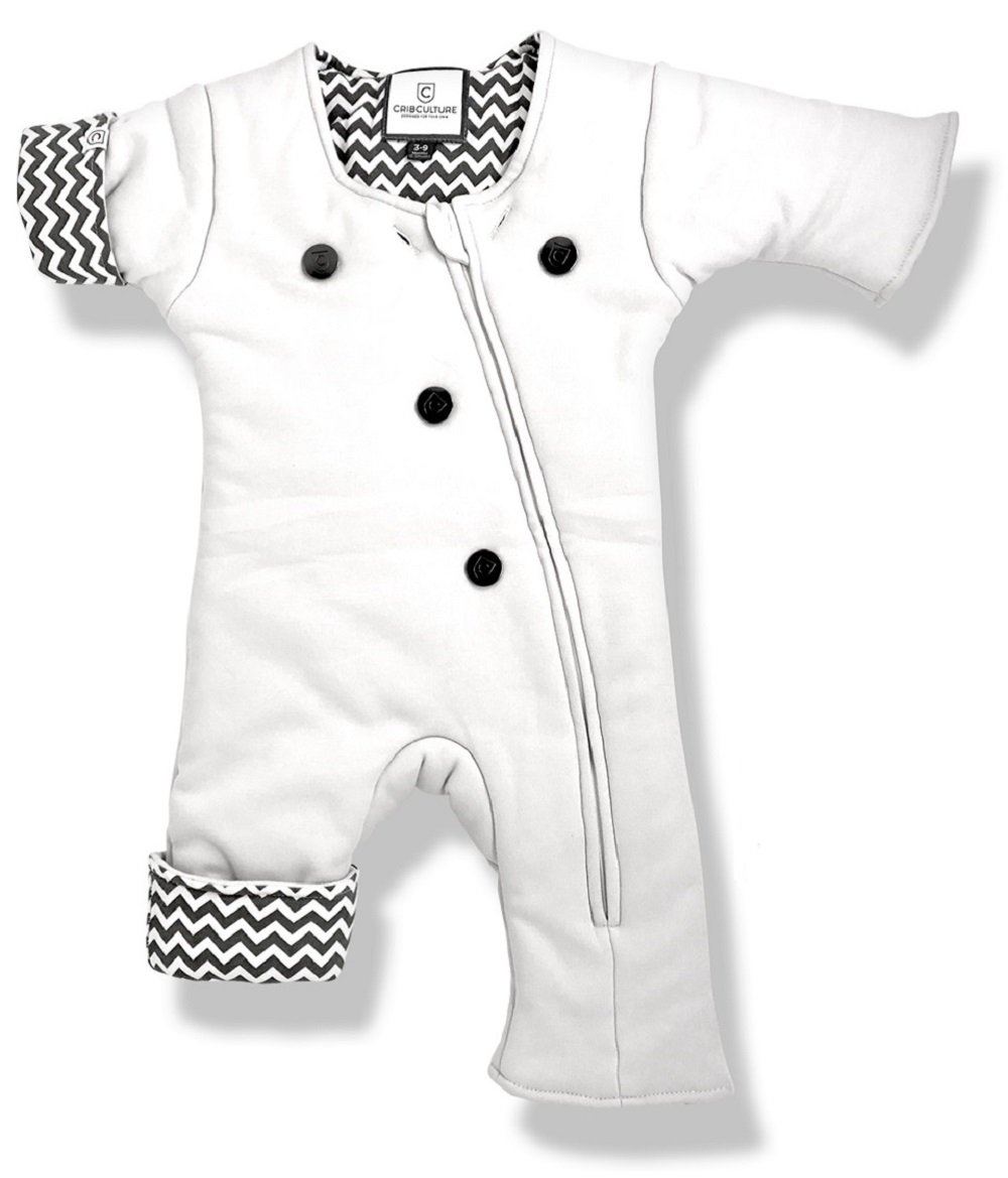 Helps Infants Transition from Swaddle: Sleepsuit/Wearable Blanket for Baby / 3-7 Months 12-21 lbs (Gray_Chevron) Sleep Suit