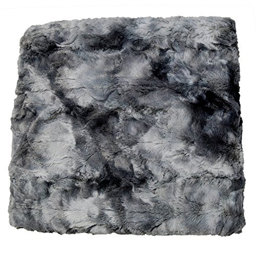 Chanasya Faux Fur Throw Blanket | Super Soft Fuzzy Light Weight Luxurious Cozy Warm Fluffy Plush Hypoallergenic Blanket for Bed Couch Chair Fall Winter Spring Living Room (50 x 65) - Dark Grey