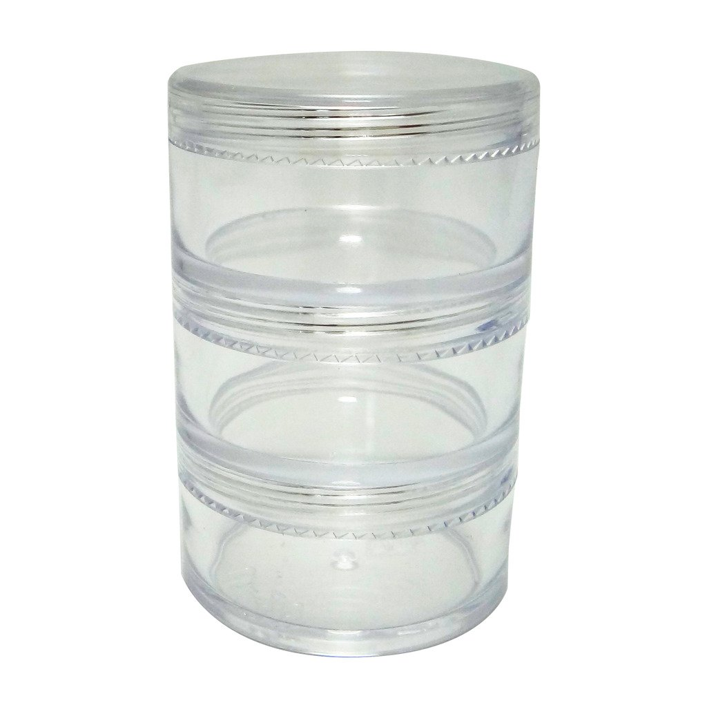 Clear Makeup Stackable Plastic Container 20gr Pack of 15