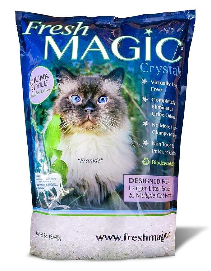 Amazon.com: FreshMAGIC Arenero de cristal para gatos de bajo ...