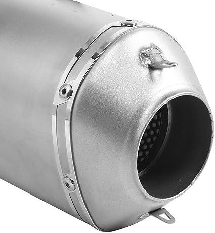 Universal Carbon Endkappe Rhomboidal Slip-On Auspuff Qiilu 60mm Motorrad Auspuffrohr