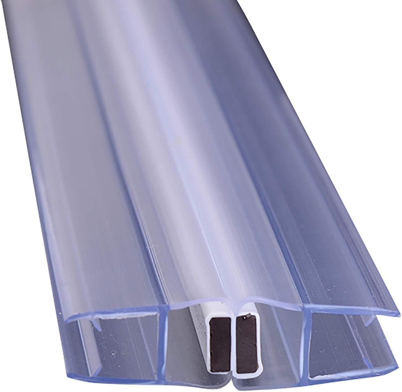 ZHTY 1 m de Largo Tira magnética Sello de Ducha,para Puertas de Vidrio abatibles,de Arco,en Forma de Diamante y de Movimiento Paralelo de 6 mm / 8 mm / 10 mm,2 Piezas