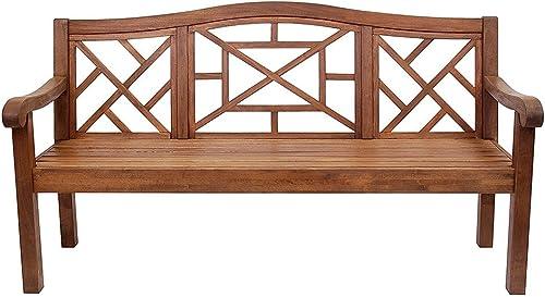 Achla Designs OFB-19N Carlton Bench Eucalyptus Garden Bench