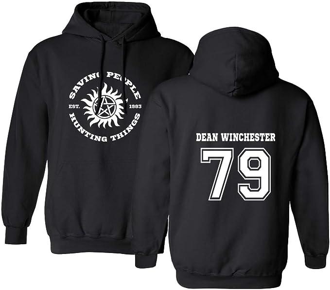 Sudadera con Capucha para Hombre Supernatural Dean Winchester Negro: Amazon.es: Ropa y accesorios