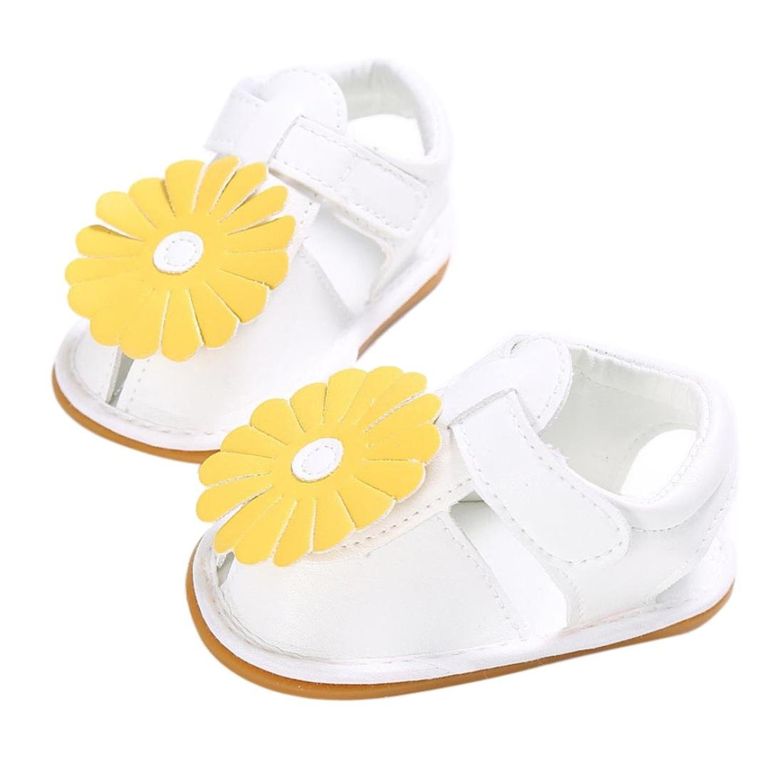 VENMO Newborn Baby Girls Flowers Designer Shoes Sandals