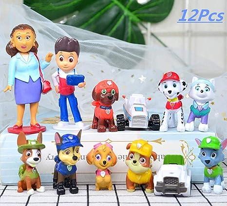 12 piezas de decoración para tarta de patrulla de perros ...
