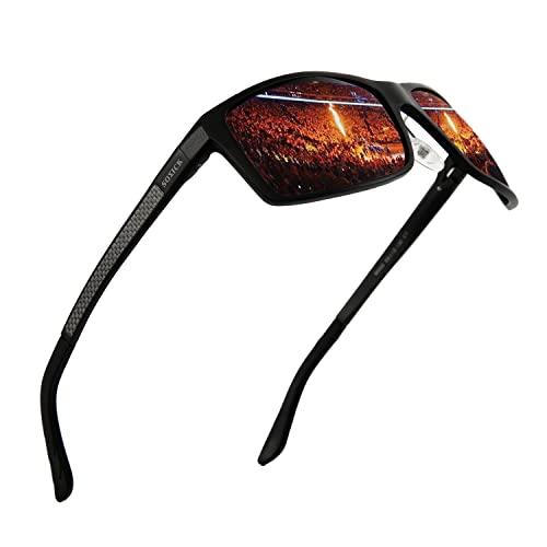 d4ba605a9d SOXICK Classic Polarized Driving Sunglasses for Men Women Adjustable Metal  Frame Glasses(black)