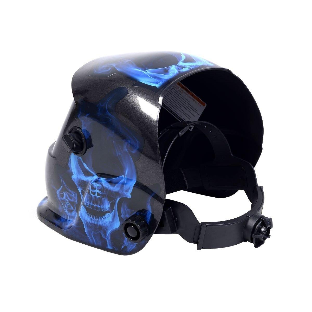 New Pro Solar Welder Mask Auto-Darkening Welding Helmet Arc Tig mig grinding - Skull - - Amazon.com