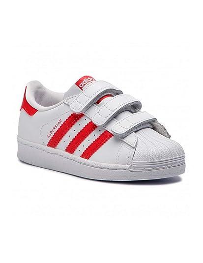 adidas Superstar CF C, Zapatillas de Gimnasia Unisex Niños, Blanco FTWR White Scarlet, 31 EU: Amazon.es: Zapatos y complementos