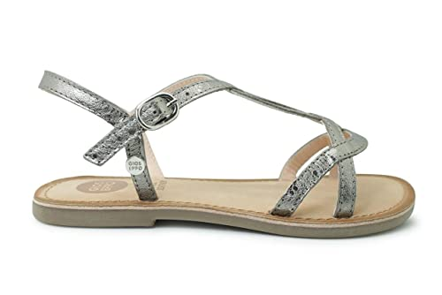 0f7796090 Gioseppo Sandalia para niña - Plata Cuero Adolescente-Unisex  Amazon.es   Zapatos y complementos