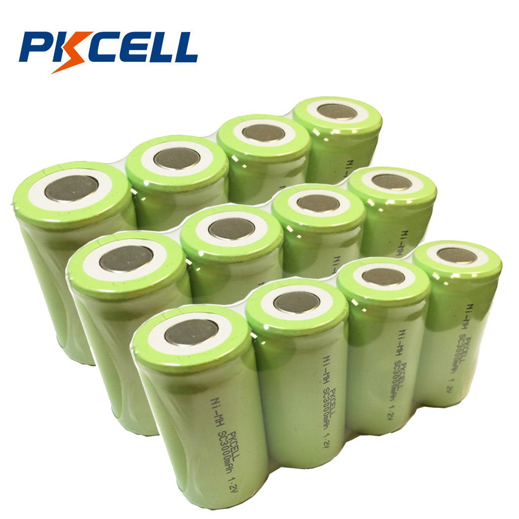 NiMH Sub C Sc High Drain Rechargeable Battery 3000mAh Pkcell (12pc)