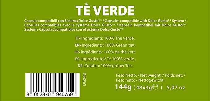 Note DEspresso - Cápsulas de té verde Exclusivamente Compatibles ...